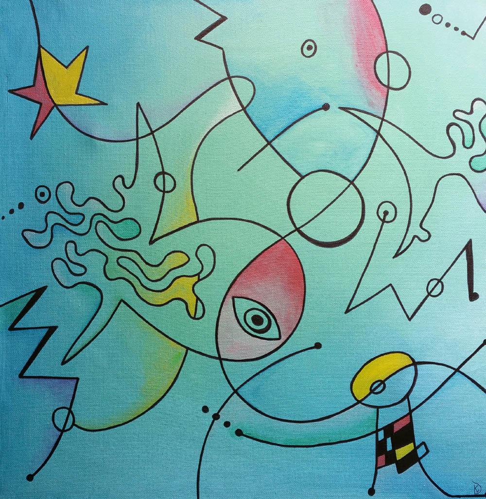Miró speels schilderen fantasie kind