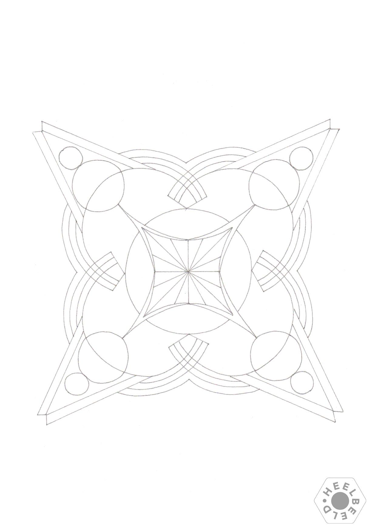 kleurplaat geometrie 1 heelbeeld persoonlijke ontwikkeling